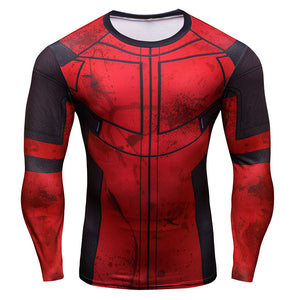 Deadpool Long Sleeve Compression Shirt (Deadpool 3d Tshirts) - Newmeup