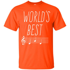Men's Worlds best DAD Music Father T-Shirt