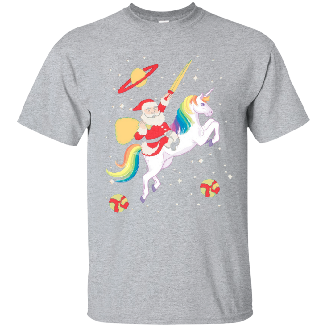 Santa Riding Unicorn t-shirts tee Santa t-shirts tee