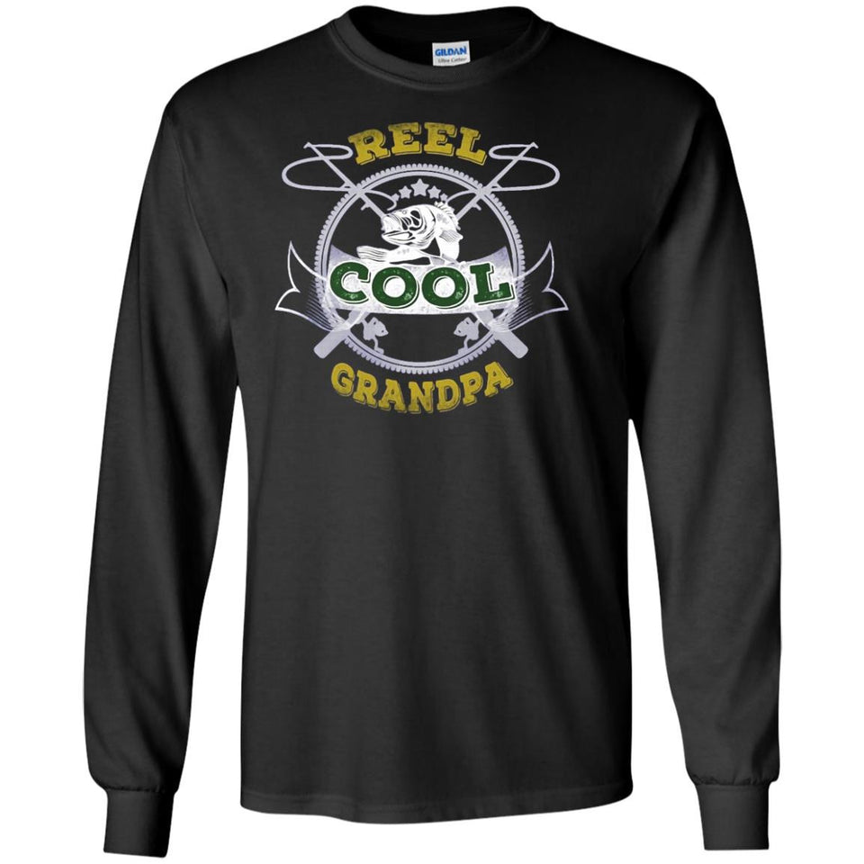Reel Cool Papa Tee Shirt Fishing Dad and Grandpa Tshirt