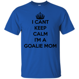 Soccer tshirt-I can't keep calm i'm a goalie mom black - newmeup
