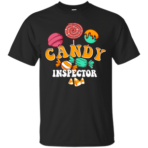 Candy Inspector Sarcastic Adult Humor Costume Funny Halloween Shirt
