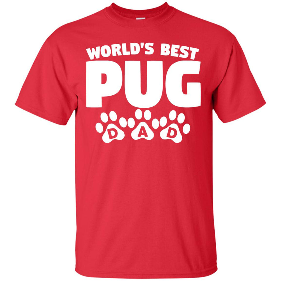 Men's World's Best Pug Dad T-Shirt