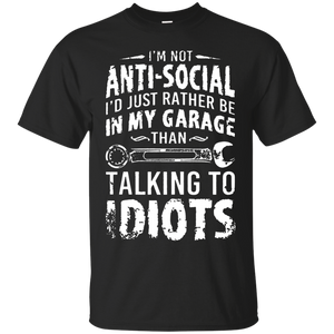 I'm Not Anti-Social Mechanic T-shirt