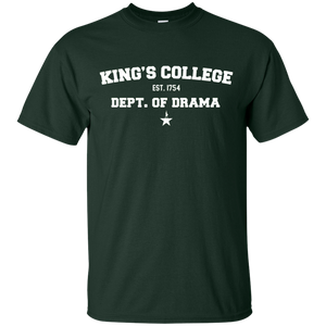 Kings College dept of drama hamil t shirt