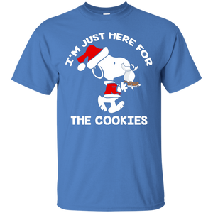 NewmeUp Men's Peanuts Snoopy Shirts I'm Just Here for the Cookies Tshirts