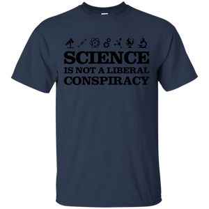 Science T-Shirt Is Not A Liberal Conspiracy Black - newmeup