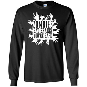 Zombies Eat Brains - Funny Zombie Apocalypse T-Shirt - Newmeup