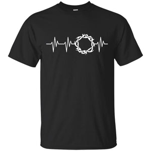 Crown Of Thorns Heartbeat - Christian - Jesus T Shirt Gift - Newmeup