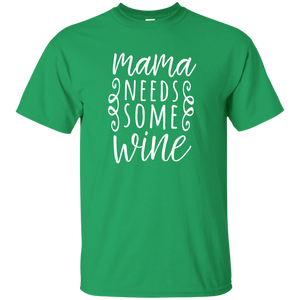 Mama Needs Some Wine Funny Graphic Wine Tee Shirt, Women - Newmeup