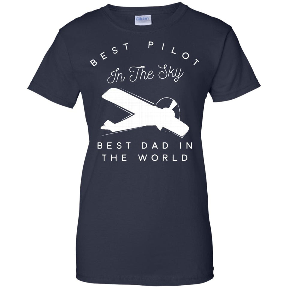 Mens Dad Father Airplane Pilot T Shirt Birth Day Gift..