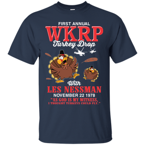 First annual WKRP Turkey Drop Thanksgiving Day T-shirt