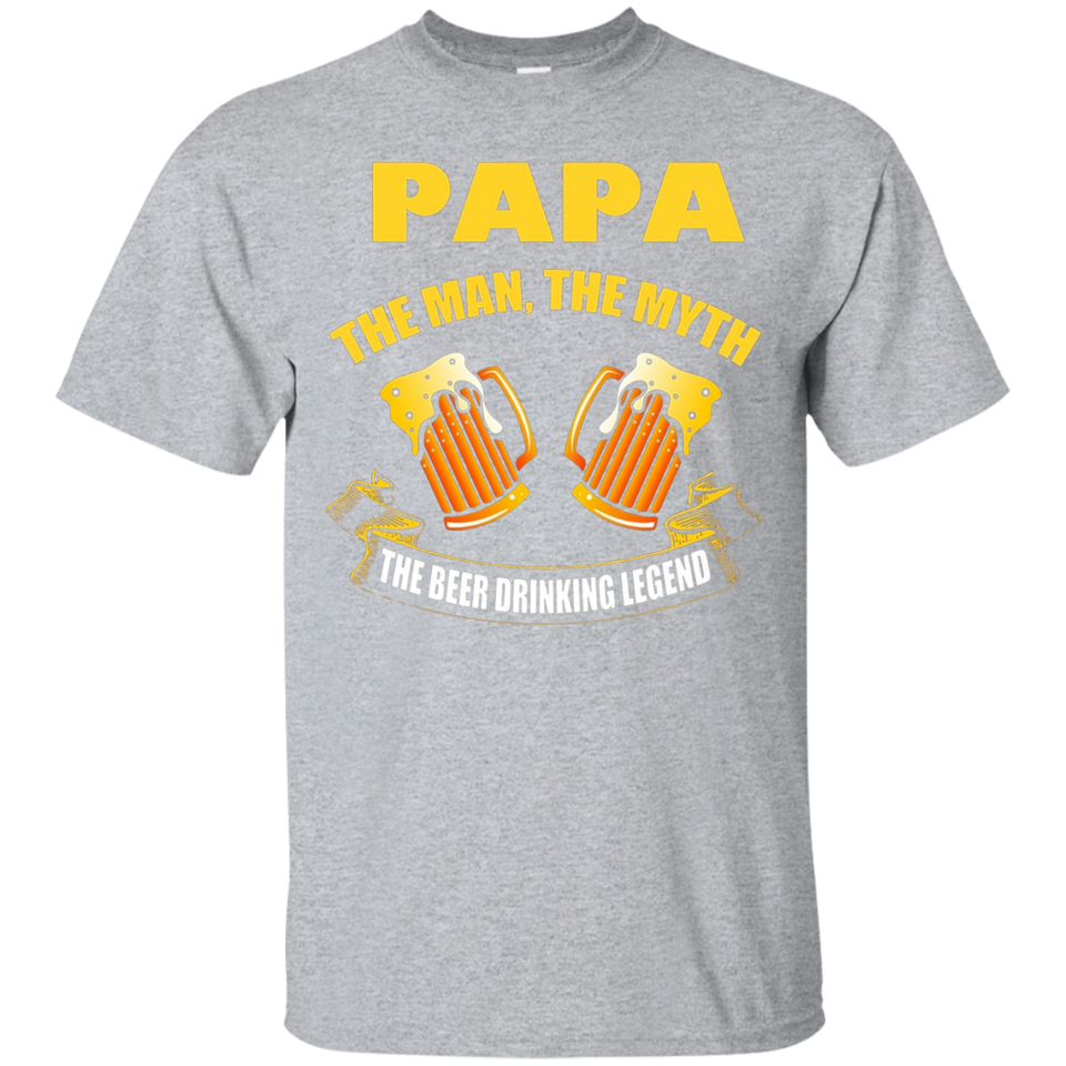 Mens Papa- The man myth beer drinking legend T shirt