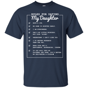 Men's Rules for Dating My Daughter Father's Day T-shirt