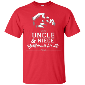 Mens Uncle Niece Friends Fist Bump TShirt Avuncular Family Cool T