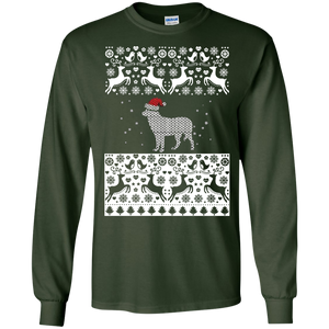 Funny Christmas T-shirt Cute Red Nose Reindeer Sweatshirt - newmeup