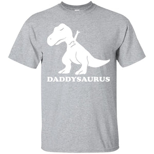Daddysaurus Shirt, Dab Dinosaur Father's Day T Shirt - Newmeup