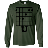 Fun Guitar T-Shirt, F Chord U Funny Guitarist Gift Black SWEATSHIRT - newmeup
