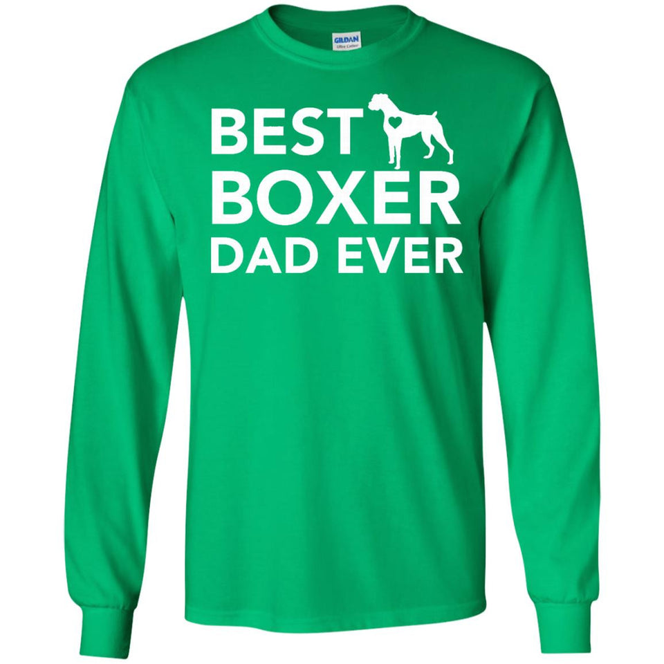 Best Boxer Dog Dad Ever Love Heart T Shirt - Newmeup