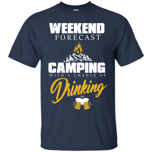 Men's Weekend Shirts Weekend Forecast Camping Tshirt