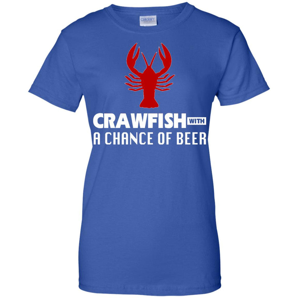 Crawfish with a Chance of Beer Weekend Forecast Boil T-Shirt - Newmeup