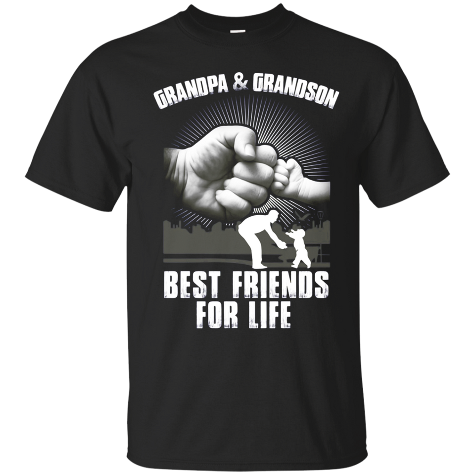 Grandpa and Grandson Best Friends For Life T Shirt - newmeup