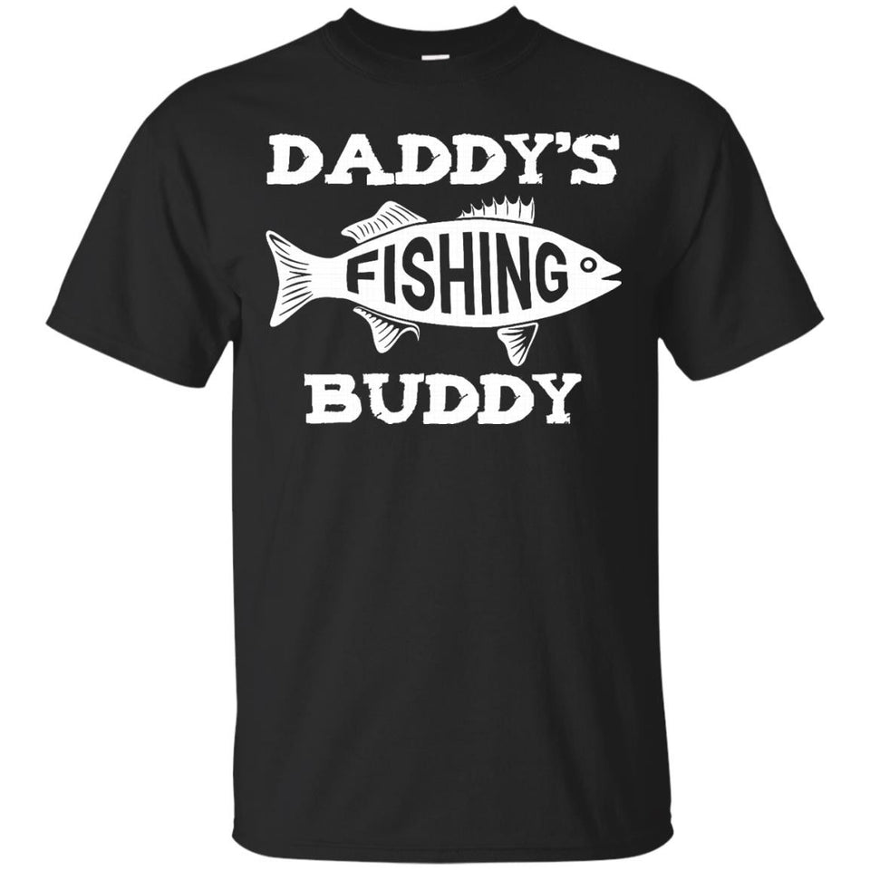 Cute Fishing Buddy Shirt Dad and Son Fathers Day Gift Boys - Newmeup
