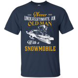 Funny Snowmobile Shirts - Oldman With A Snowmobile