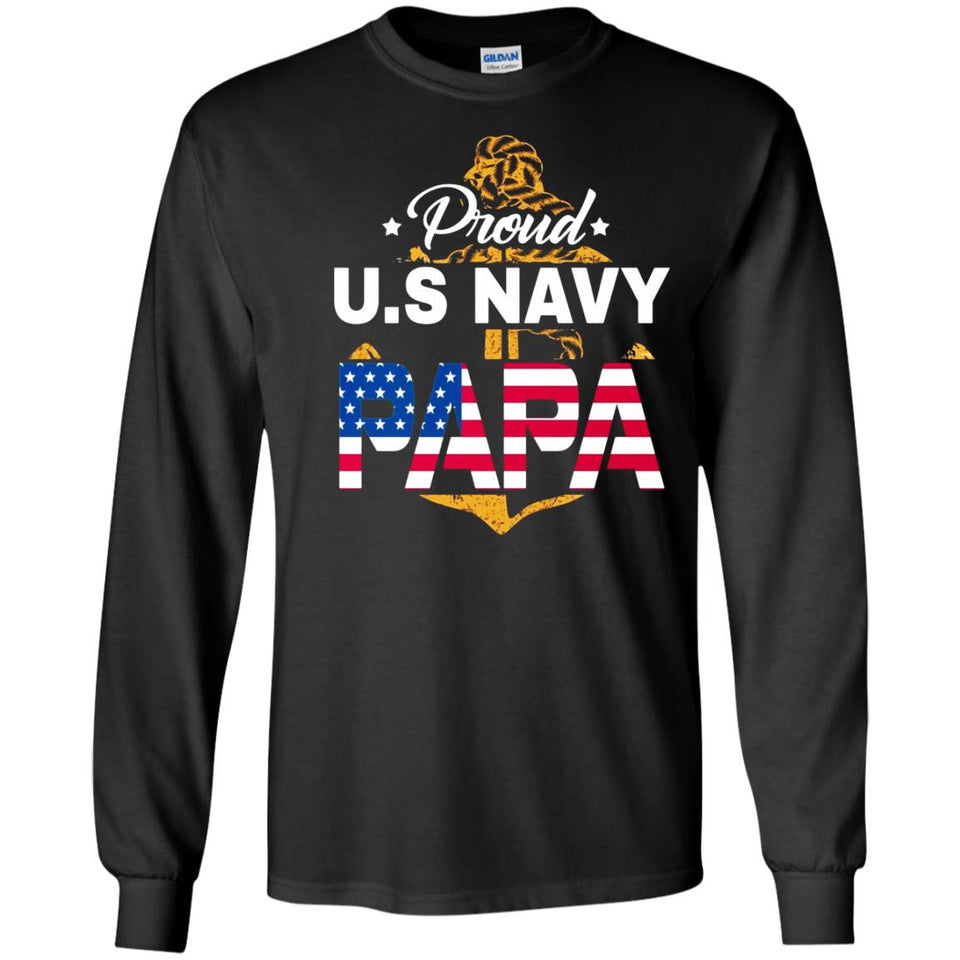 Proud Us Navy Papa Shirt