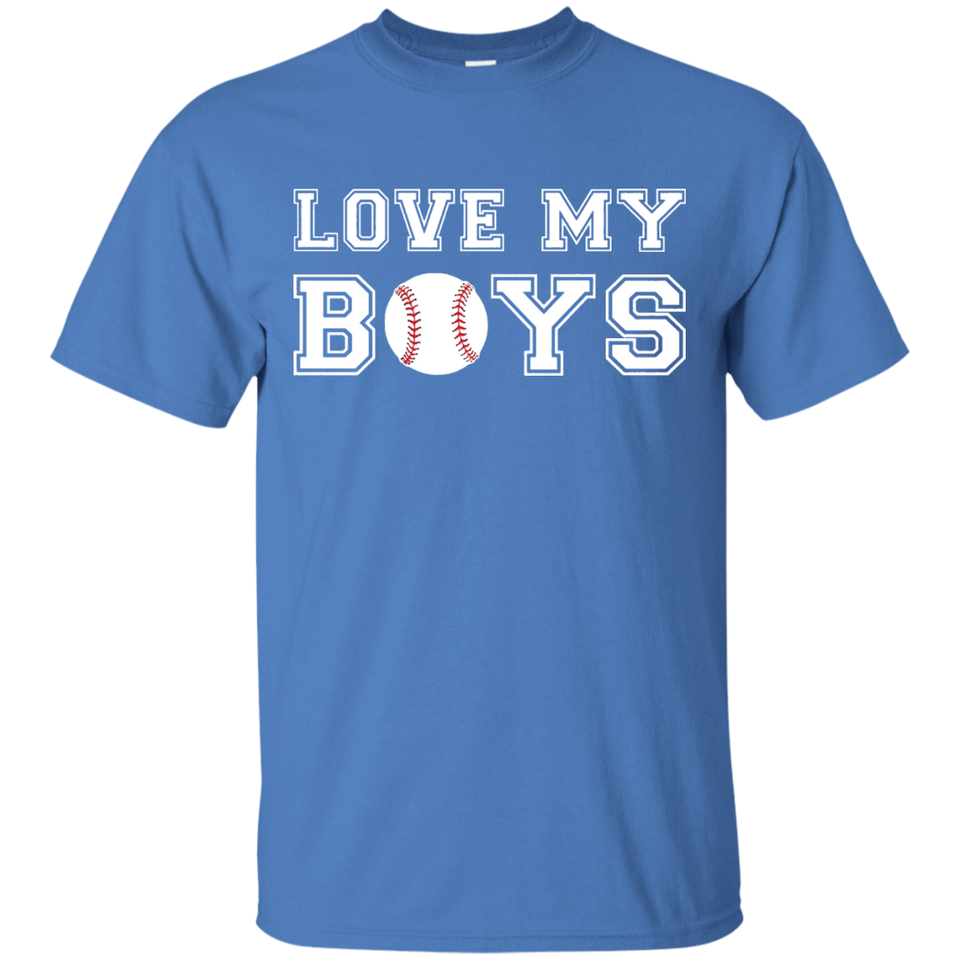 Love My Boys Baseball Mama and Papa Biggest Fans T-Shirt