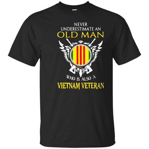 Never Underestimate An Old Man Who Vietnam Veteran Tshirt