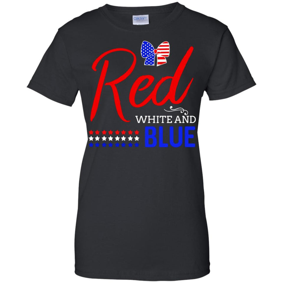 Red White And Blue 4Th Of July Tshir Stars And Fireworks