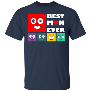 Six Cute Emoji Best Mom Ever Happy Mother Day T-Shirt