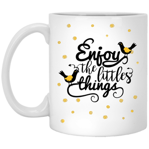 NewmeUP 11 Oz Coffee Mug Enjoy the Little Things