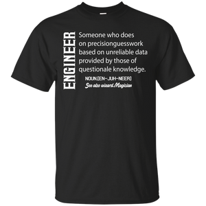 NewmeUp Men's Funny Engineer Shirts Engineer Meaning Definition PremiumT-shirt