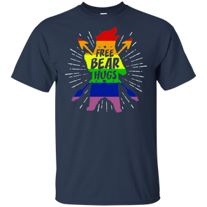 Pride Shirt Gay Pride March LGBTQ Funny Free Bear Hugs