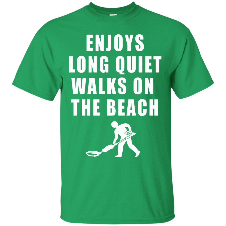 Metal Detecting Treasure Hunter Love Beach Funny Tee