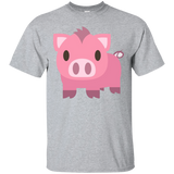 Pig Emoji TShirt Pink Oink Zoo Animal Mud Curled Tail