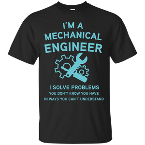 NewmeUp Men's Mechanical Engineer T-shirts I Solve Problem Shirts