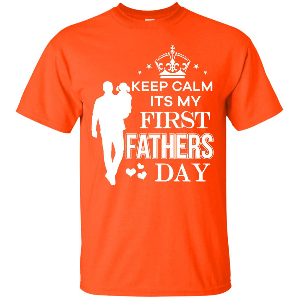 Men's Keep Calm I'ts My First Father's Day T-Shirt