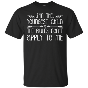 Men's I'M The Youngest Child The Rules Don'T Apply To Me T-Shirt