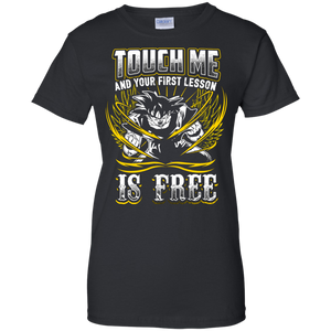 Dragon Ball Z Shirts Women's Vegeta Super Saiyan God Touch Me Dbz T-Shirt
