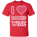 I Love Boxed Wine - Funny T-Shirt for Wine Lovers