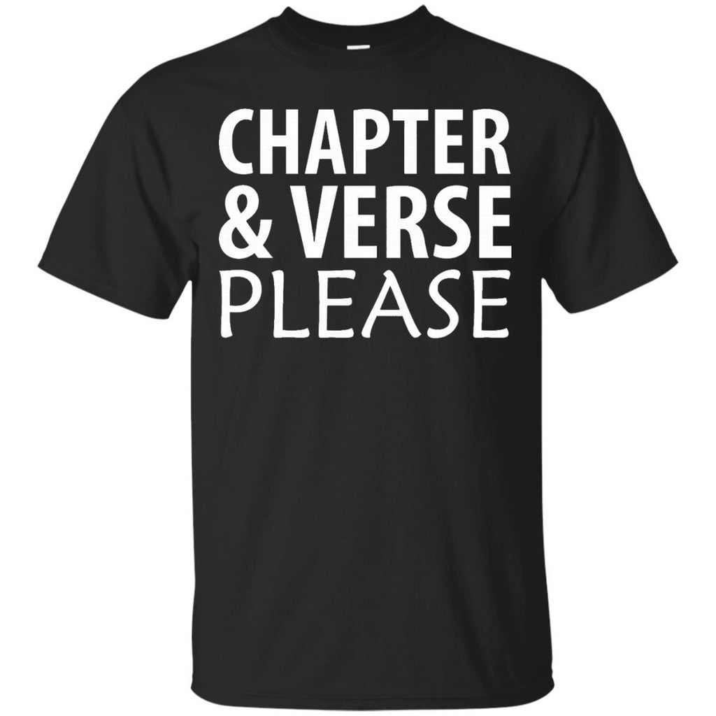 Chapter and Verse Please Bible Scripture T-Shirt - Newmeup
