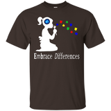 Autism Shirt Embrace Differences T-Shirt for Women and Girls White - Newmeup