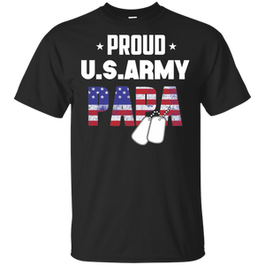 Mens Gift Military Family - Proud U.S. Army Papa T-shirt