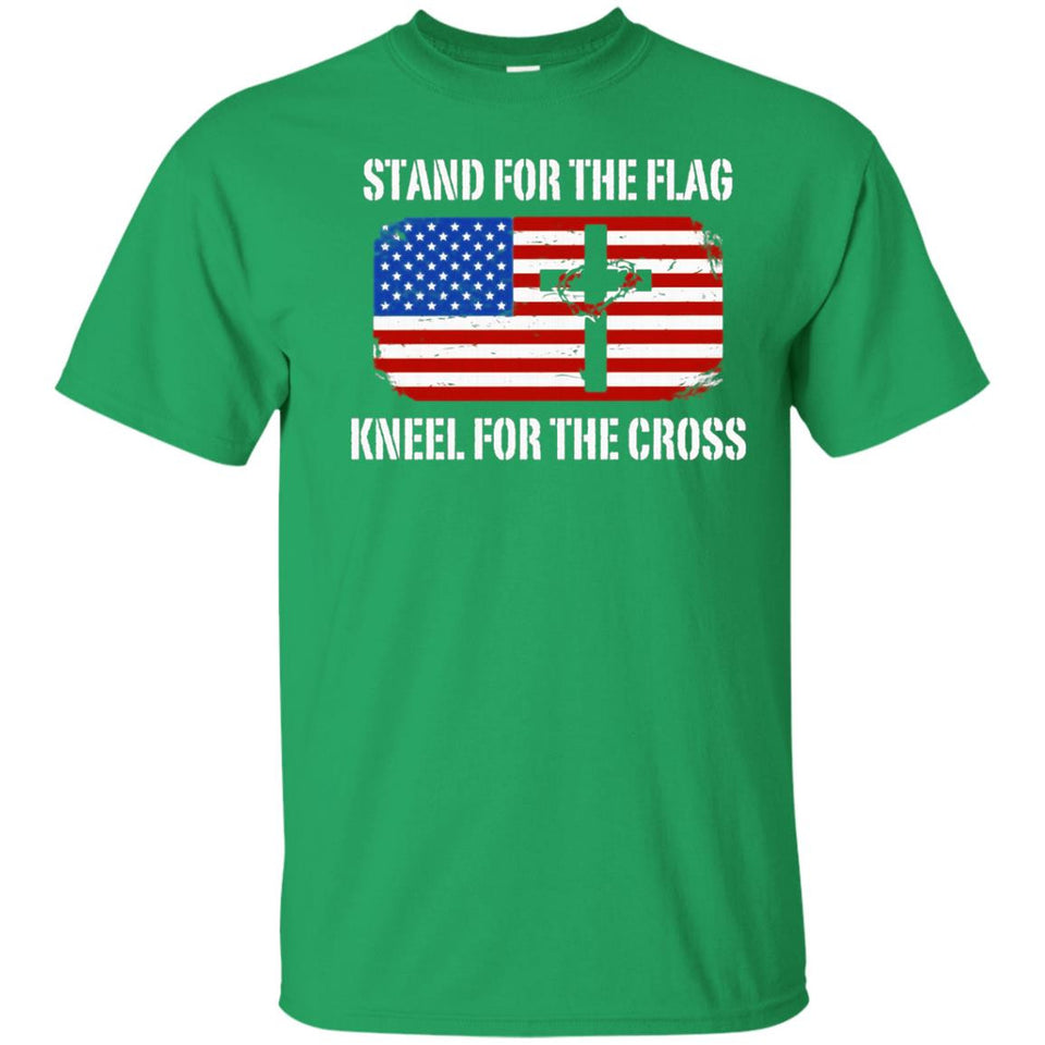 Patriotic Stand For The Flag Kneel For The Cross T-Shirt