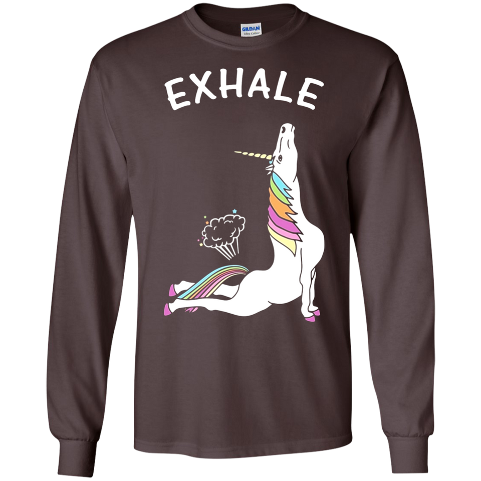 Unicorn With Rainbow Exhale SWEATSHIRT - Newmeup