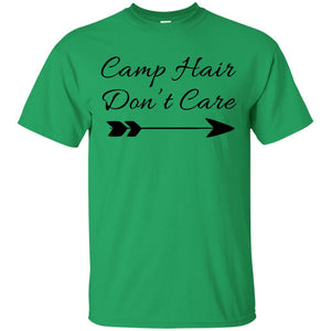 Camp Hair Don't Care Shirt Tee Camping T Shirt Camper - Newmeup