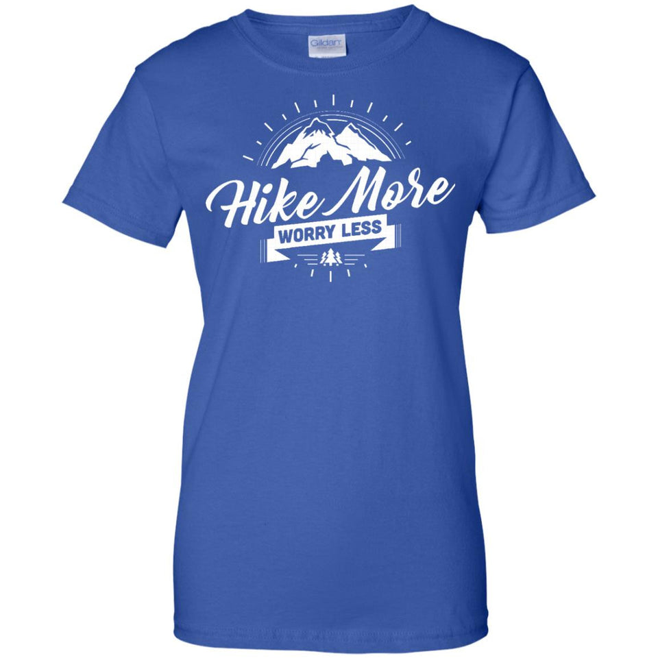 HIKING T-SHIRT - Hike more Worry less for men and women
